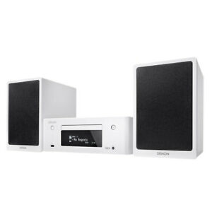 Denon Fm Radio & Cd Player w/ Wi-Fi Music System for Network Audio Streaming WHT