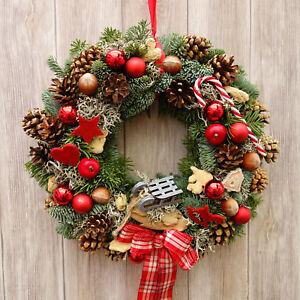 Weihnachtsdeko Kranz türkranz türkränze weihnachten weihnachtsdeko kranz türdeko