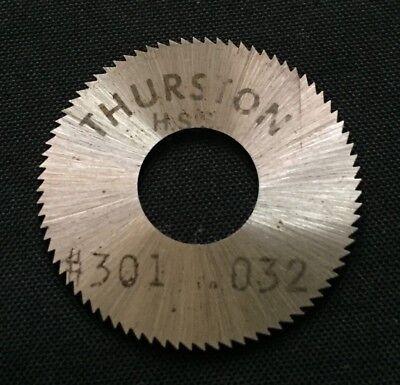 Thurston Jewelry 1-1//2 x 0.032 x 1//2 90T HSR Slitting Slotting Saw !