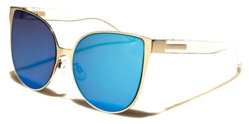NEW Mirrored Flat Lens Cat Eye Oversized Design Womens Sunglasses 100/%UV400 0313