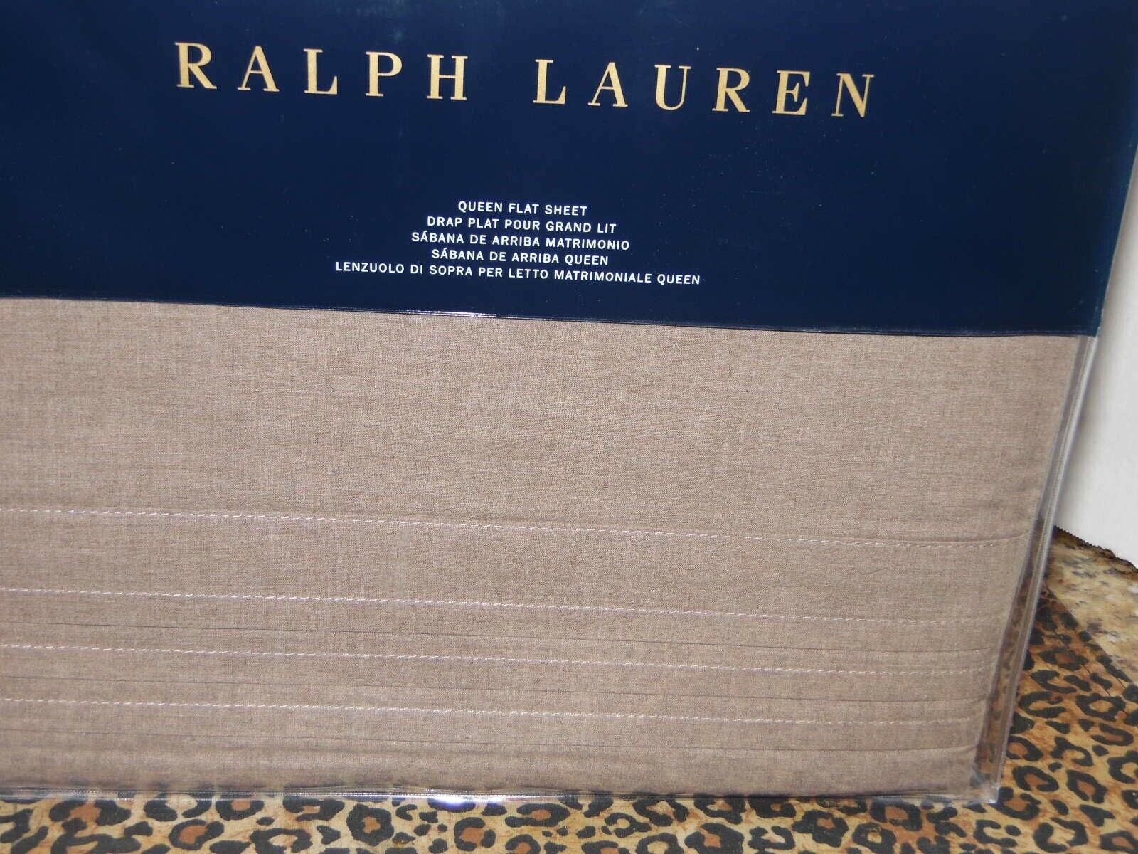 Ralph Lauren Modern Icons Queen Flat Sheet