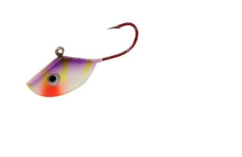 Northland Tackle UV Forage Minnow Fry FMUVF8-46 Purple Tiger 2 Pack #8 Hook
