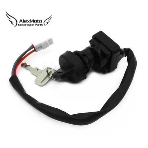 Black Ignition Key Switch For Suzuki LTZ400 LT-Z400 ATV 2005 2006 2007 2008