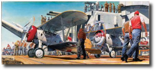 Aviation Art Prints The Professionals by James Dietz Boeing F4B-4/'s