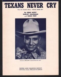 Texans-Never-Cry-1950-Gene-Autry-Sheet-Music