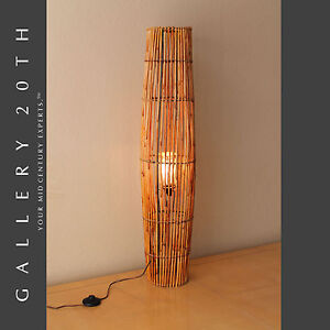 RARE-MID-CENTURY-MODERN-BAMBOO-TIKI-FLOOR-LAMP-VTG-50-039-S-60S-ATOMIC-LIGHT-RETRO