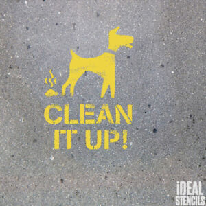 image is loading clean it up dog warning stencil dog fouling
