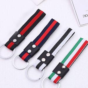 Men-Leather-Metal-Car-Keychain-Keyring-Purse-Bag-Fashion-Key-Chain-Ring-Keyfob