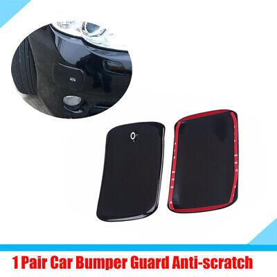 2X Black Front Rear Bumper Rubber Pad Protector Corner Cover Guard Anti-scratch