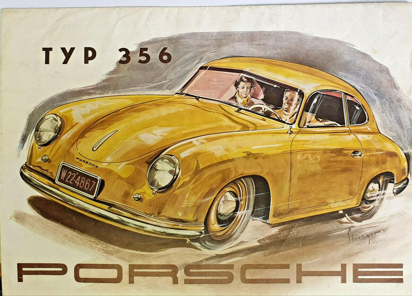 Rarität Prospekt Typ 356 In 1951 Mit Technischen Daten Porsche