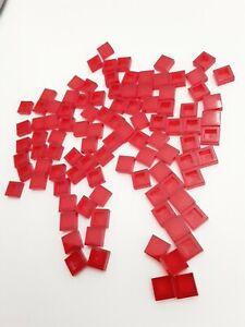 8 x LEGO® 3070 Systemstein Fliese,Platte in 1x1 Farbe rot Neuware.