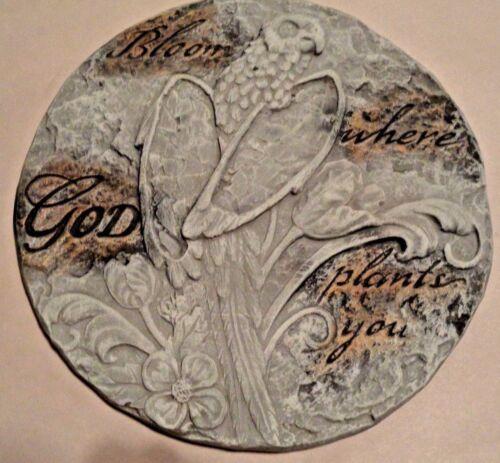 """Bloom where God plants you bird plaque plastic mold concrete plaster mould 11/"""""""