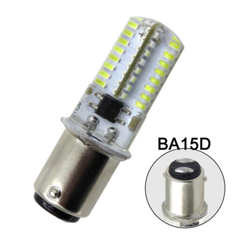 10pcs BA15D LED Light Bulb Fit Singer 221//301A//401A White Equivalent 20W 120V