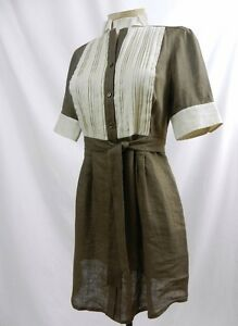 ETCETERA-BROWN-TAN-TUNIC-TOP-SHIRT-BELT-TIE-DRESS-sizes-0-6-8-10-12-NEW-175