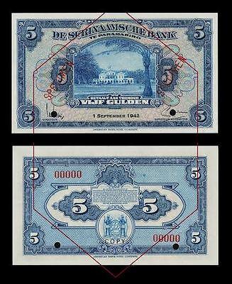 SURINAME 10 GULDEN 1941 UNC Reproduction