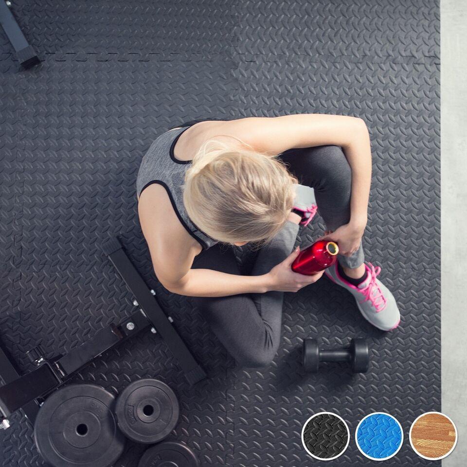Motionscykel, Sæt med måtter til gulvbeskyttelse 12 dele