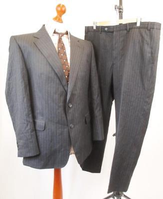 L 42s W38-vintage Anni'70 Daks Linea Uomo Charcoal Stripe Lana 2pce Suit Smart-c922-mostra Il Titolo Originale Con Le Attrezzature E Le Tecniche Più Aggiornate