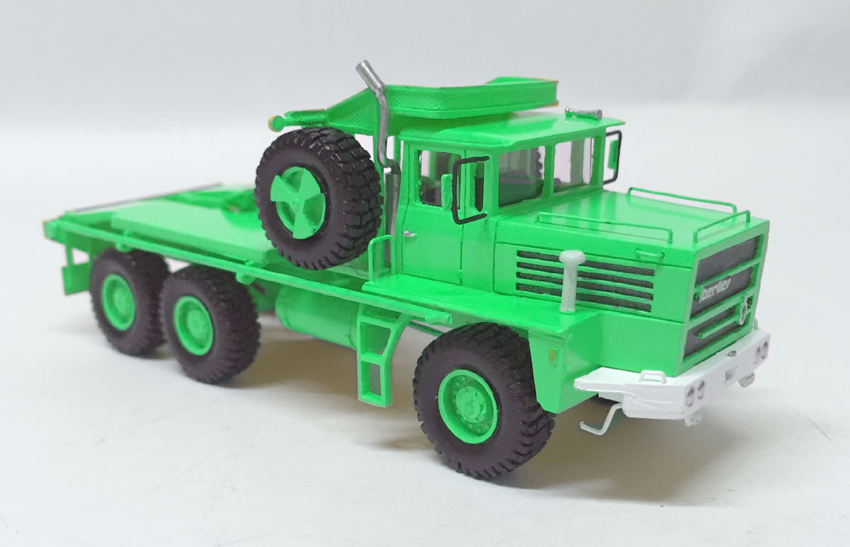 HO 1 87 BERLIET GPO 17P 6X6 - GREEN - Ready Made Resin Model by Fankit Models