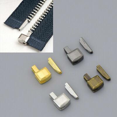10Sets Metal Zipper Repair Stopper Open End Tailor Tool Craft Fabric Sewing B7B1