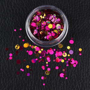 Mixed-Nail-Ultrathin-Sequins-Round-Purple-Red-3D-Nail-Art-Decoration-Manicure