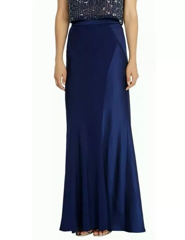 BNWTCoast Size 10 Ezlie bluee Navy Maxi Full Length Prom Weddings Skirt 38EU