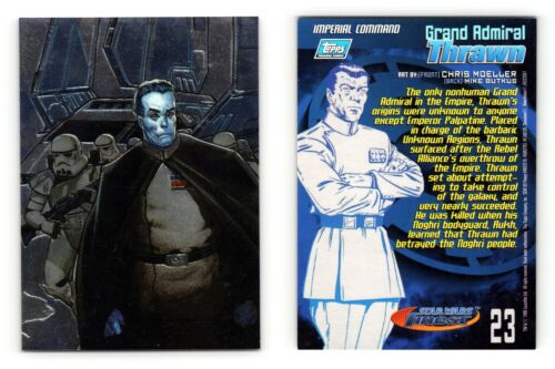 Grand Admiral Thrawn #23 Star Wars Finest 1996 Topps Trading Card