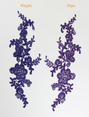 decorative sewing lace motifs 11 different colours #1 2 x Floral lace Applique