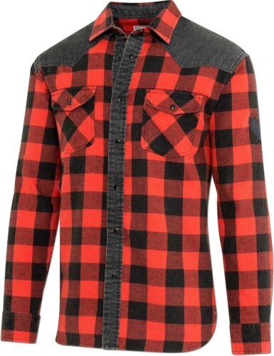 Westernhemd Cowboyhemd Hemd Herren Country Bikerhemd LUMBERJACK Rot Schwarz Karo