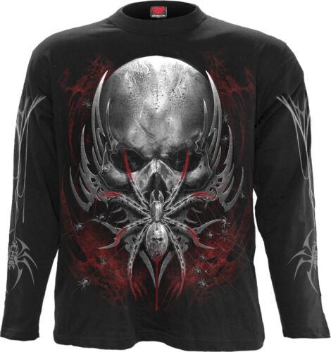 Spiral Direct SPIDER SKULL Long sleeve T-Shirt Skulls//Spider//Tribal//Metal//Gothic