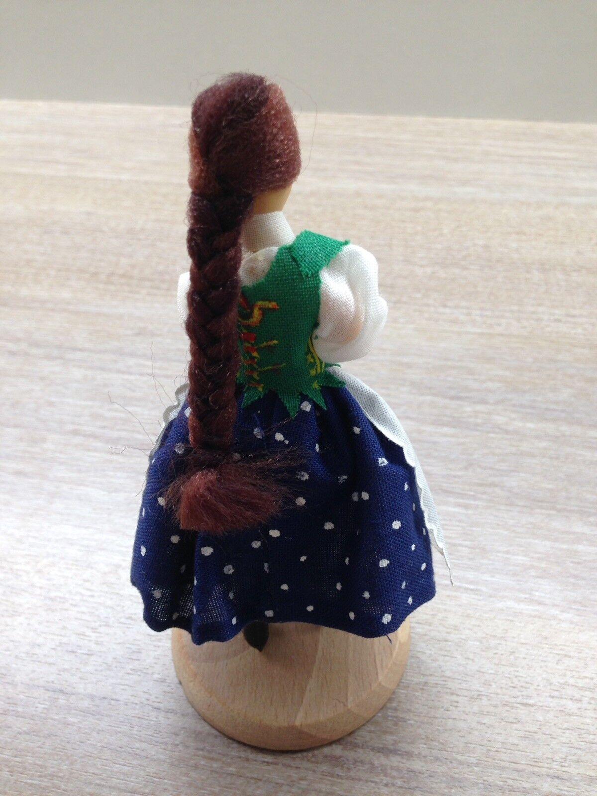 Original Polnische Gromada handgemalte hölzerne Trachtenpuppe Puppen