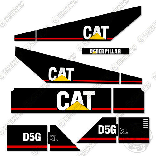 Caterpillar D5G XL Decal Kit Equipment Crawler Tractor Dozer 7-Year Vinyl