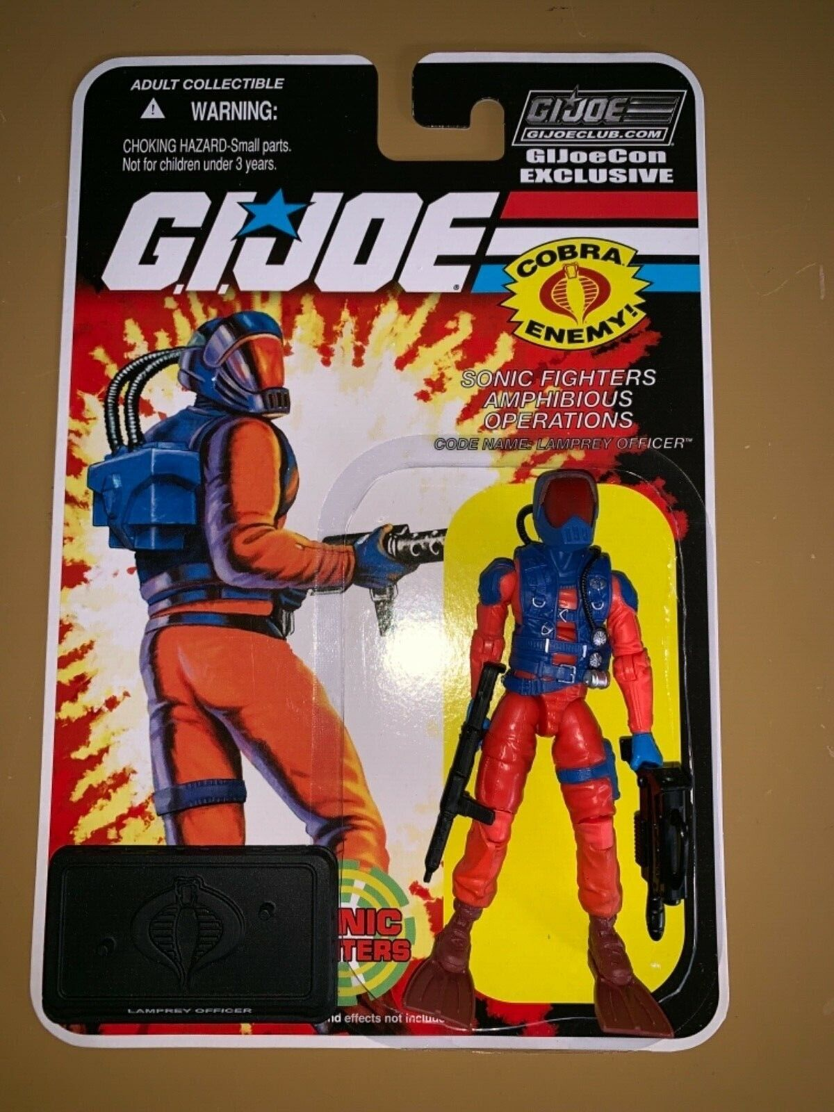 GI JOE Con Convention Club Exclusive 2018 Sonic Fighters Lamprey Officer Rare