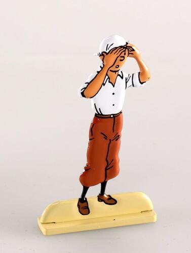 Figurine métal Tintin Tintin et Le crabe aux pinces d/'or Moulinsart bas relief