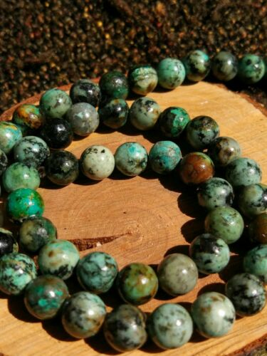 8mm cuprit chrysokoll Edelstein Strang perlas joyas chapucillas resolución turquesa