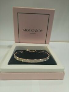 JOB-LOT-NEW-GIFT-BOXED-10-X-Arm-Candy-Rose-Gold-Plated-Silver-Sparkle-Bracelet