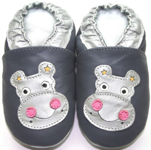 Minishoezoo Weiche Sohle Leder Babyschuhe Nilpferd Grau 4-5 Jahre