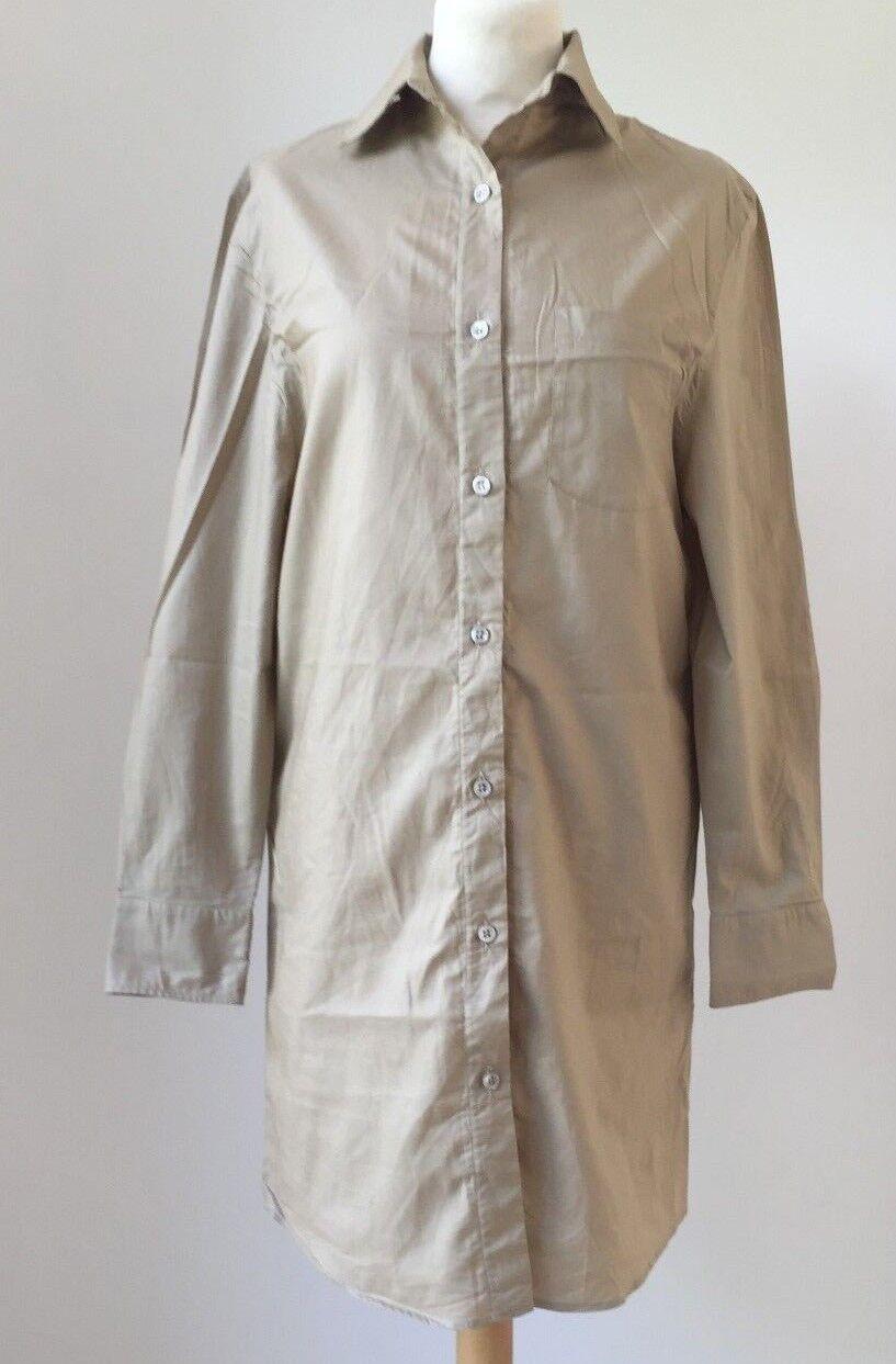 Beautiful Maison Margiela Brown Cotton Long Sleeve Women's Shirt Dress M 36