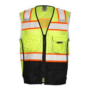 ML Kishigo 1515 Class 2 Black Bottom Safety Vest