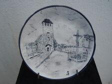 Assiette porcelaine France décor église St Jean Baptiste de Rebais