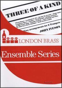 3 Of A Kind Trompette Trio Par John Iveson Brass Ensemble Sheet Music Book-afficher Le Titre D'origine