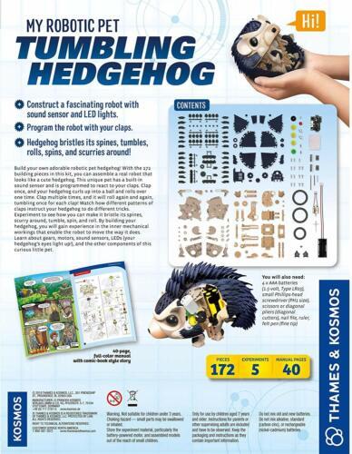 Tumbling Hedgehog Tumbles Rolls PLUS 8 AAA BATTS Thames Kosmos My Robotic Pet