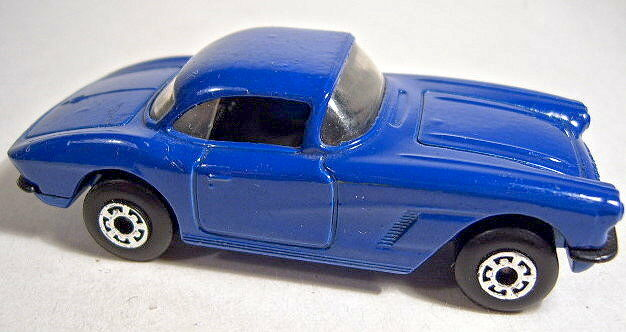 Matchbox No.62 1962 Corvette pre-production model in dark Blau schwarz interior