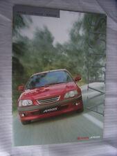 Toyota Avensis (Sedan, Liftback, Wagon) Prospekt / Brochure / Depliant, Poland