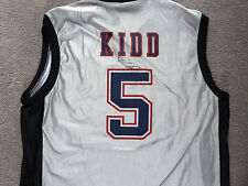 MEN'S SIZE XL AUTOGRAPHED JASON KIDD NJ NETS JERSEY - 2002 FINALS - AUTHENTIC!!