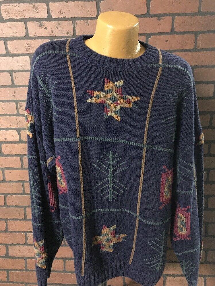 Ralph  Lauren Chaps handframe Clásico Suéter de cuello rojoondo para hombre Vintage de Talla XL G1-4  precios ultra bajos
