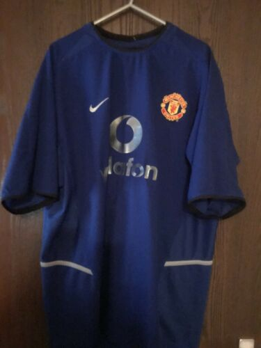 Manchester United Adult Large Away Shirt Blue Nike Vodaphone 200203