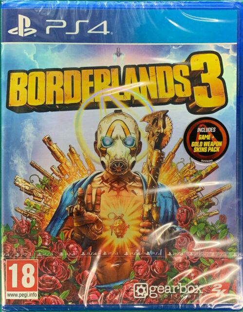 Borderlands 3 (PS4) Game inc Gold Weapon Bonus Skin Pack DLC NEW
