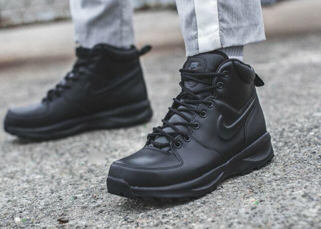 Nike Manoa leather Boots Bottes Chaussures en Cuir Black Mandara Hoodland 454350-003