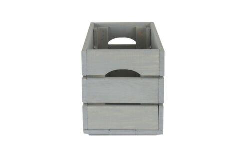 4-er Set caisse en bois caisse à vin panier de fruits dekokiste Box généralistes caisse sd-3//Gris