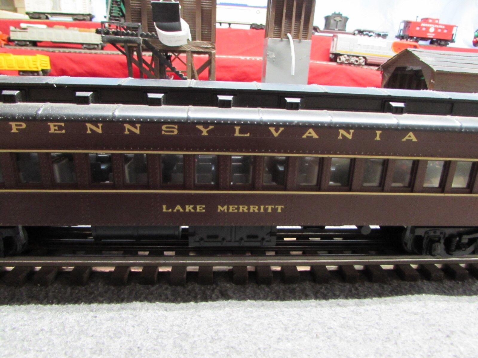 5 Vintage MTH Pennslyvania Passenger Illuminated Cars IB IB IB 1056e8